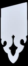 Echantillon de lambrequins en Aluminium composite 3mm blanc