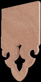 Echantillon de matière en bois contreplaqué exterieur brut 10mm – Modèle Saint-Lary – Frise 93mm