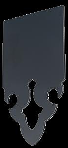 Echantillon de lambrequin en aluminiumc omposite 3mm gris anthracite RAL 7016