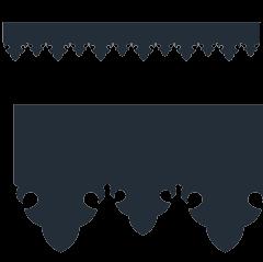 Motif de Lambrequin en aluminium composite anthracite pour bord de toit ou fenêtre