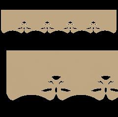 Motif de Lambrequin en bois pour fenêtre