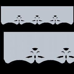 Motif de Lambrequin en zinc naturel pour fenêtre
