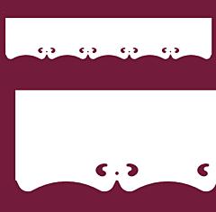Motif de Lambrequin en PVC blanc pour fenêtre