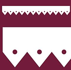 Motif de Lambrequin en PVC blanc pour bord de toit ou fenêtre