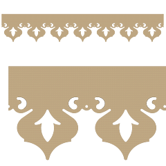 Motif de Lambrequin en bois pour bord de toit ou fenêtre