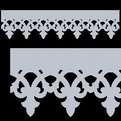 Motif de Lambrequin en zinc naturel pour bord de toit ou fenêtre