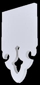 Echantillon de lambrequin PVC blanc 10mm