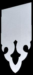Echantillon de lambrequin en Zinc naturel 0.80mm