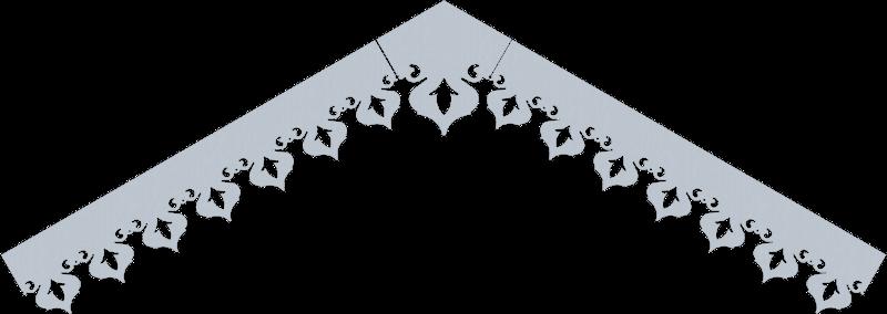 Modèle lambrequin LB044 - exemple de pente à 30°