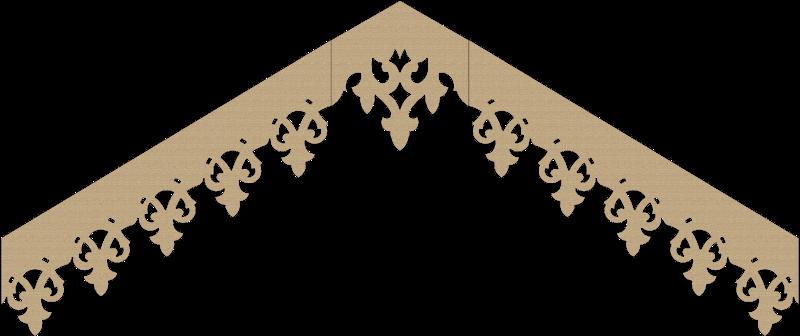 Modèle lambrequin LB046 - exemple de pente à 30°