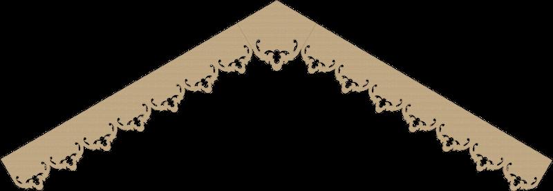 Modèle lambrequin LB057 - exemple de pente à 13°
