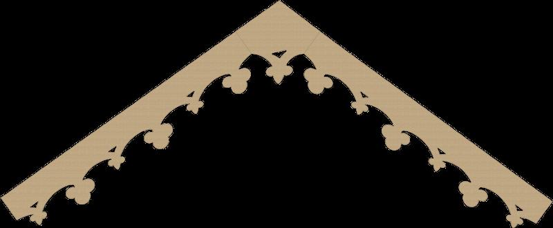 Modèle lambrequin LB111 - exemple de pente à 35°