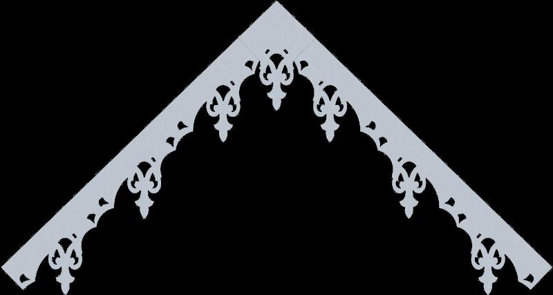 Modèle lambrequin LB081 - exemple de pente à 45°