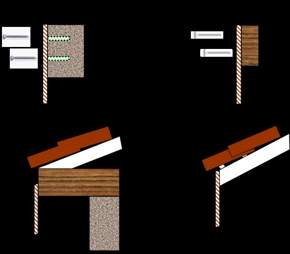 Fixation lambrequins de toiture