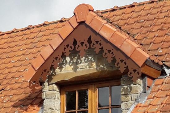 Ornement de toit et décoration extérieure en alu