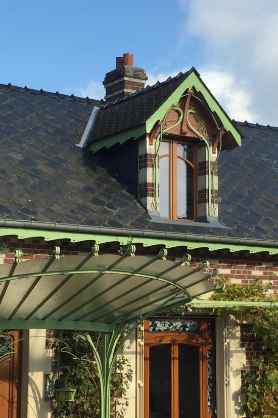 ARt déco - Ornement de toit et décoration extérieure en Zinc naturel