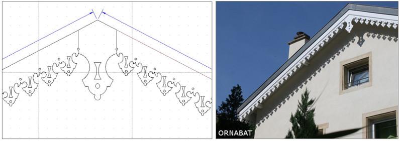 Reproduction lambrequin fichier vectoriel